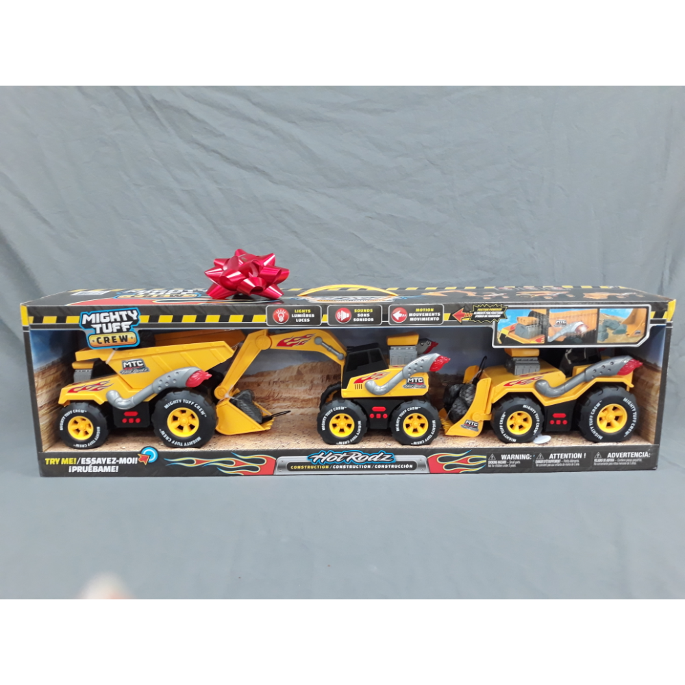 Hot Rodz Mighty Tuff Crew Construction Truck Set