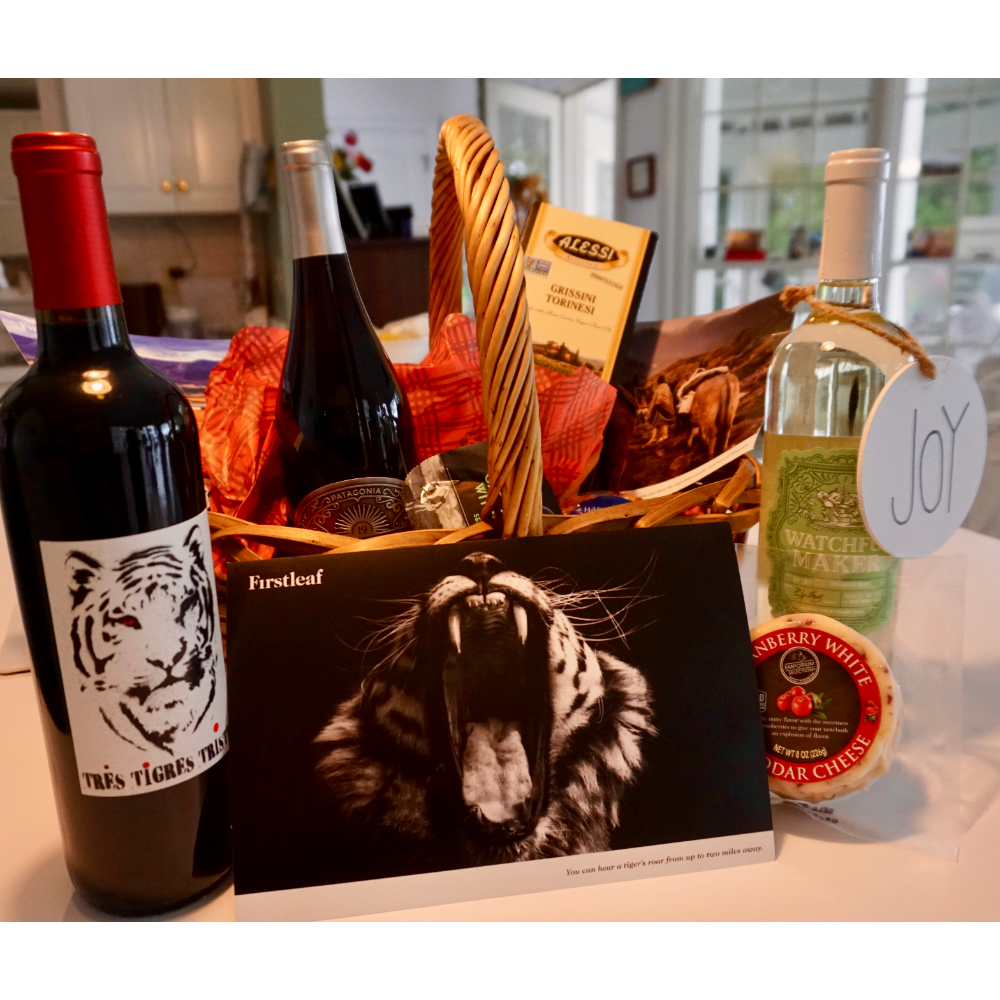 Connoisseurs Wine and Cheese basket