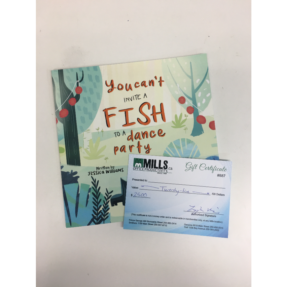 You Can't Invite a Fish to a Dance Party & $25 Speedee Mills Gift Card