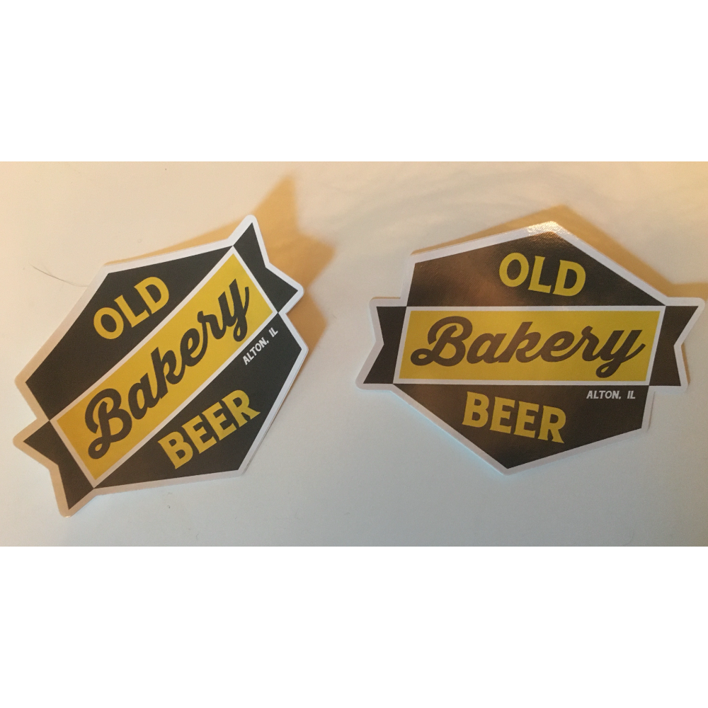Old Bakery Beer Gift Certificate for Food and Stickers