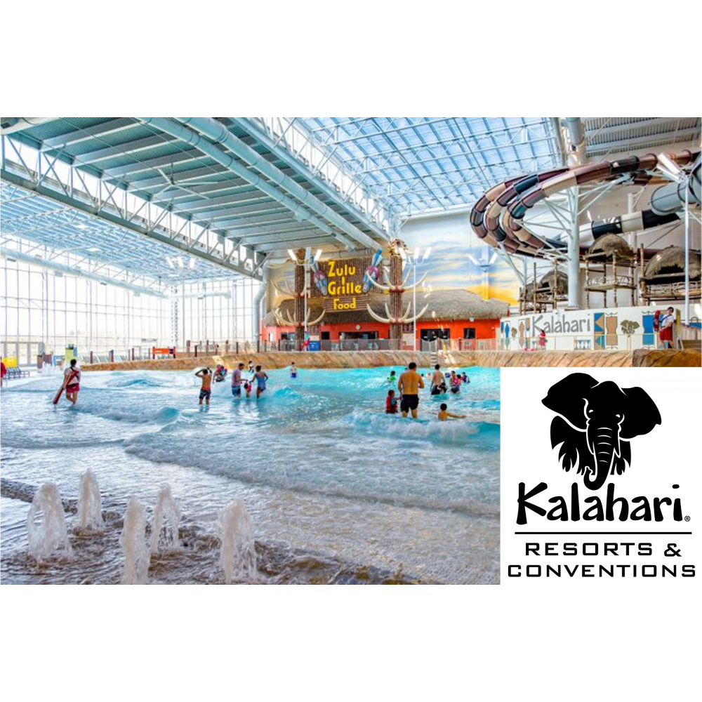 Kalahari Water Park Passes for 4