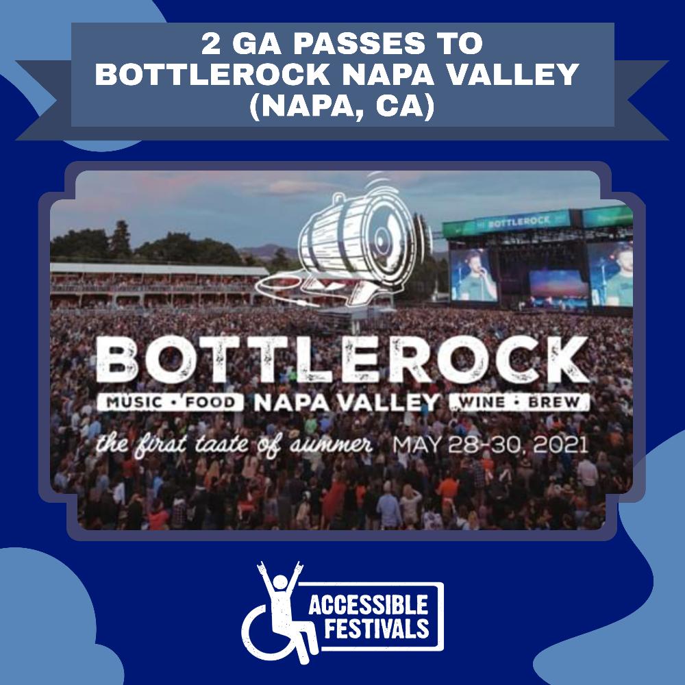 2 GA Passes to Bottlerock Napa Valley