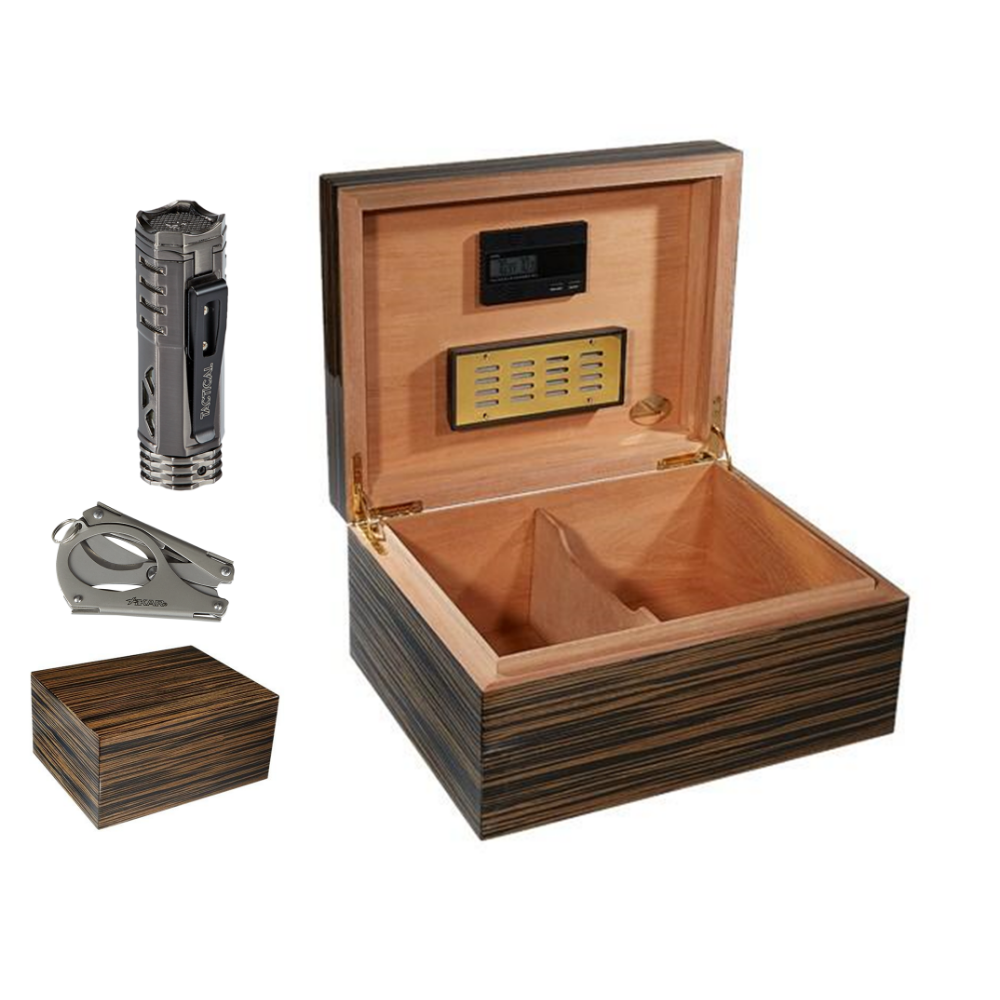 Cameroon Humidor and Accessories Set
