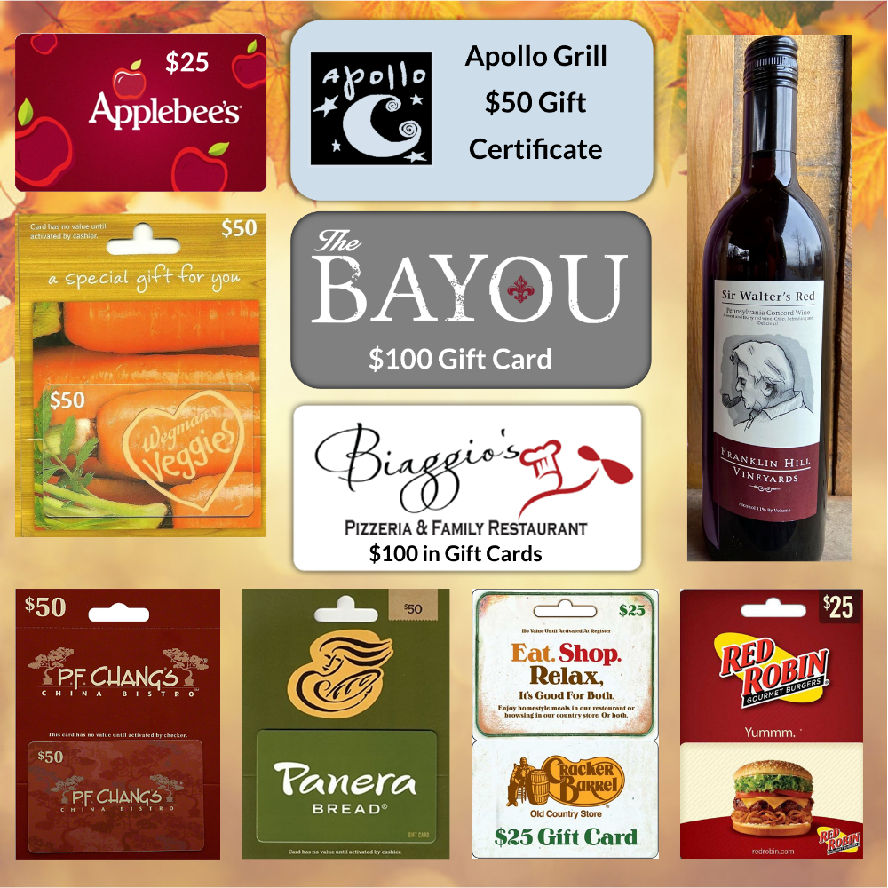 Give Thanks for Take Out! Wine and Restaurant Gift Cards