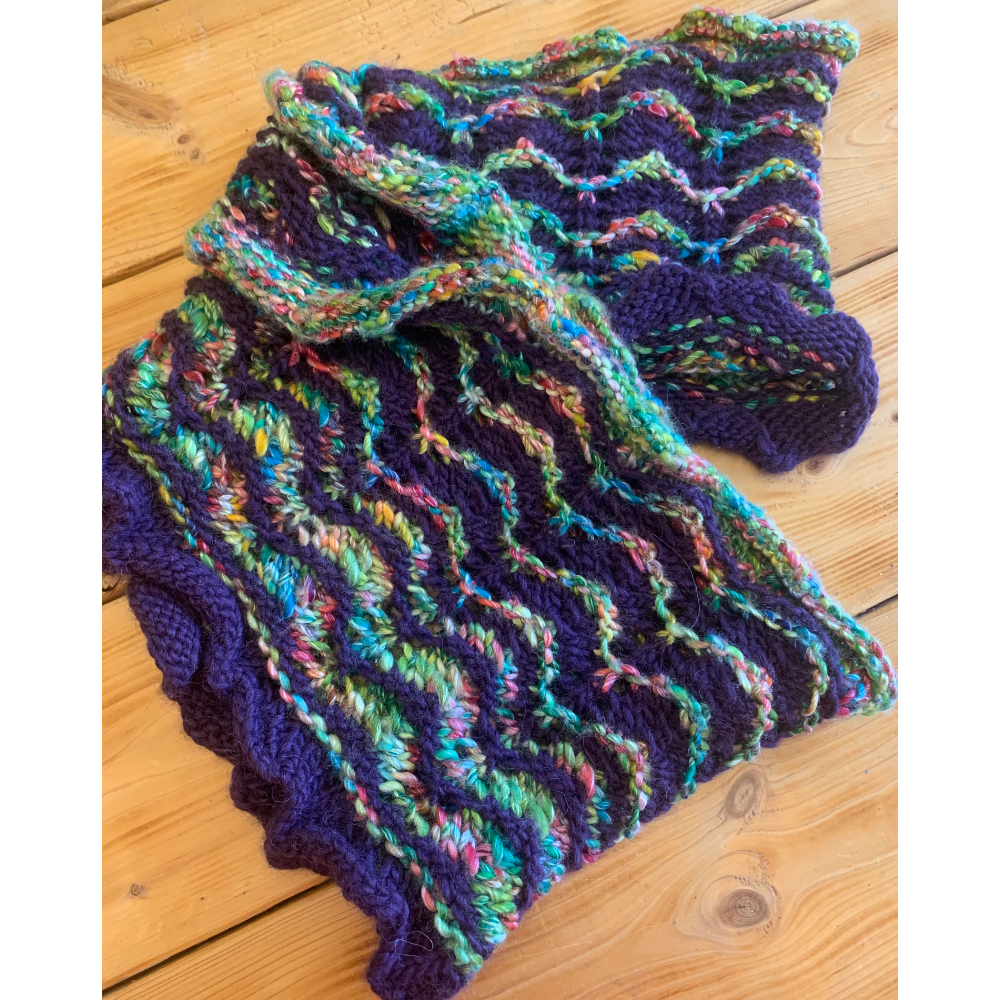 Rainbow and Purple Infinity Cowl