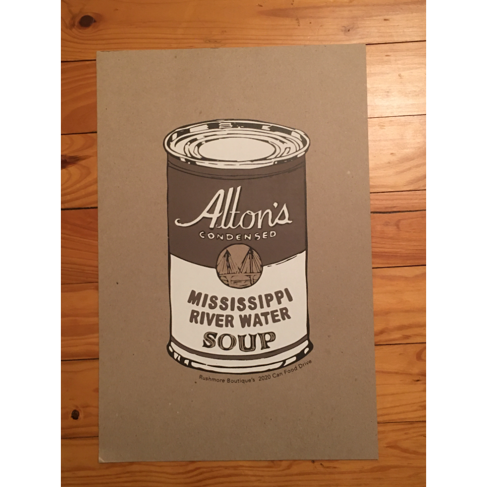 Alton's Mississippi River Water Soup Poster