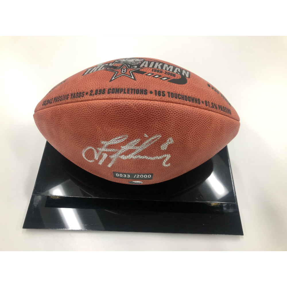 Troy Aikman Signed Football