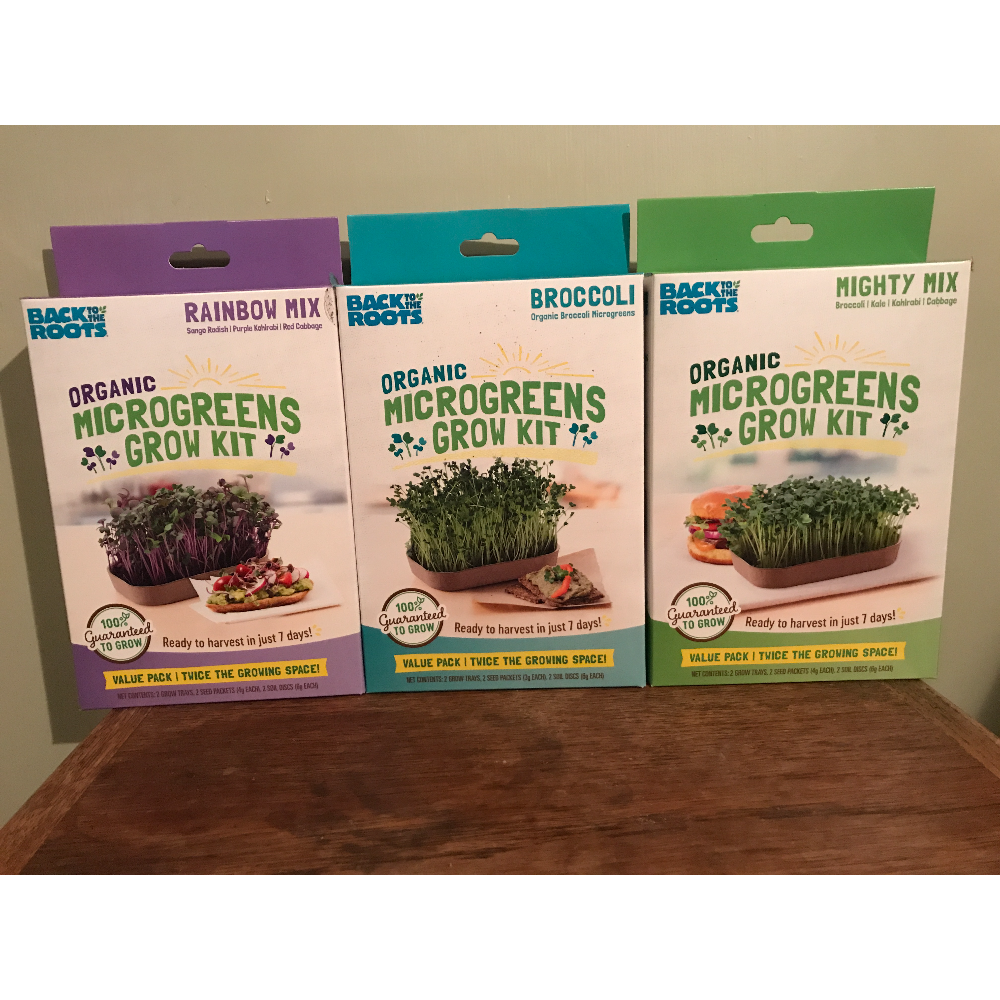 ORGANIC MICROGREENS KIT, VARIETY 3-PACK (INCLUDES 6 GROWS)