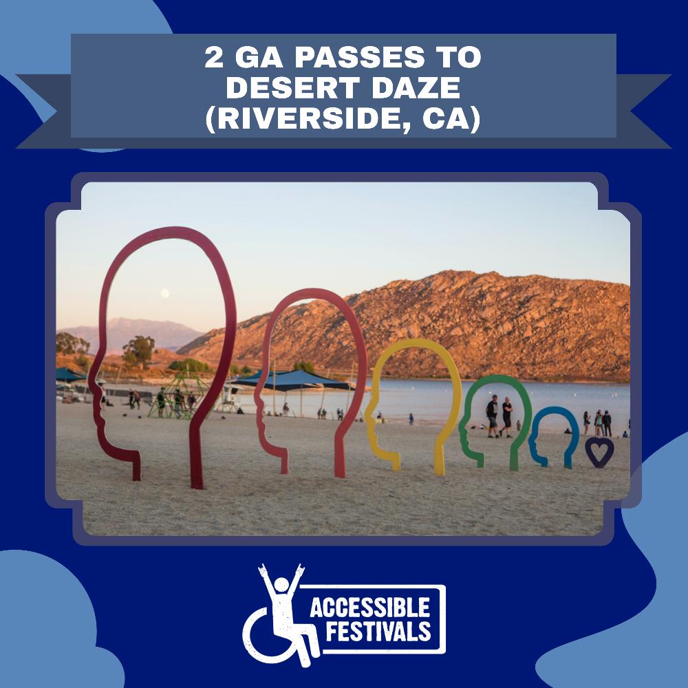 2 GA Passes to Desert Daze (Riverside, CA)