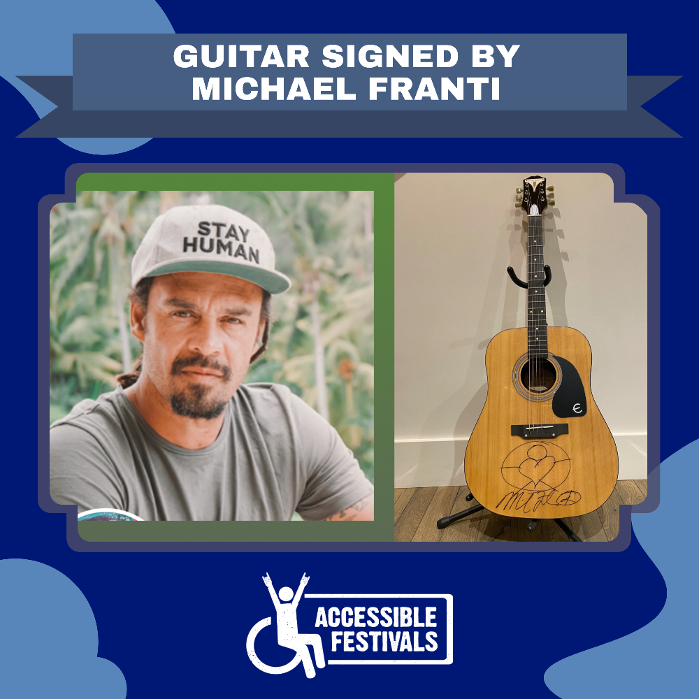 Guitar Signed by Michael Franti