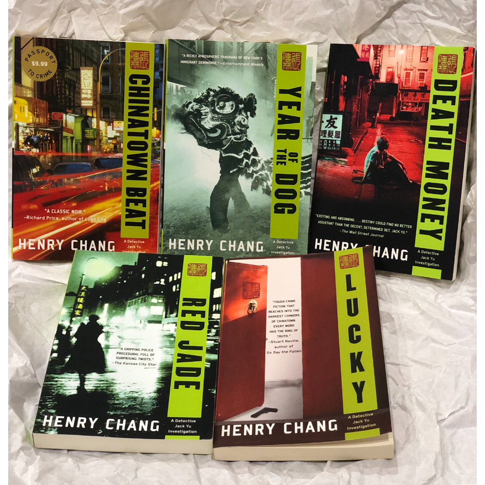 Autographed Mystery Book Set by Henry Chang