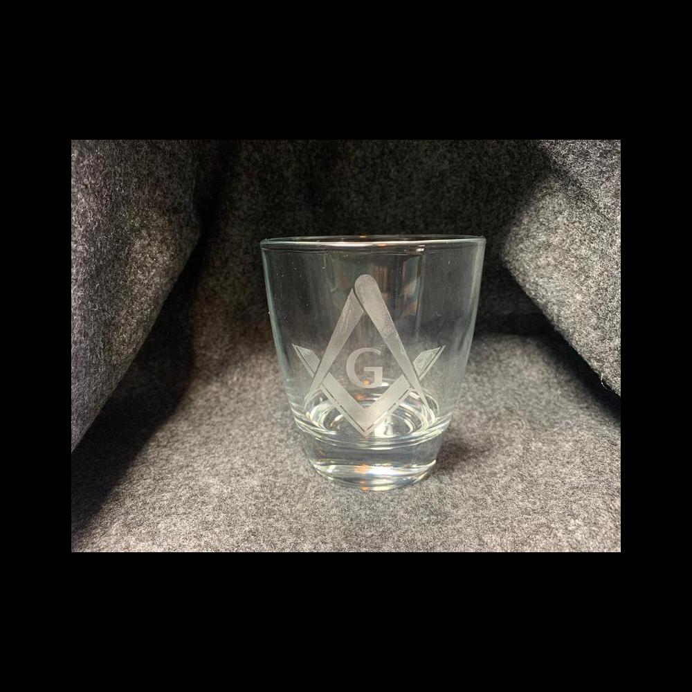Masonic Etched Tumbler Glasses