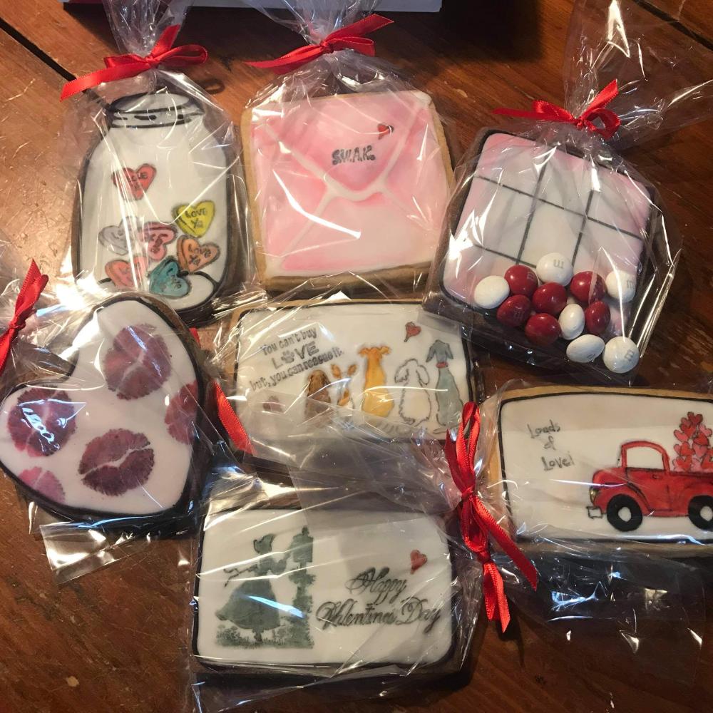 2 Dozen, Handmade Valentine Cookies