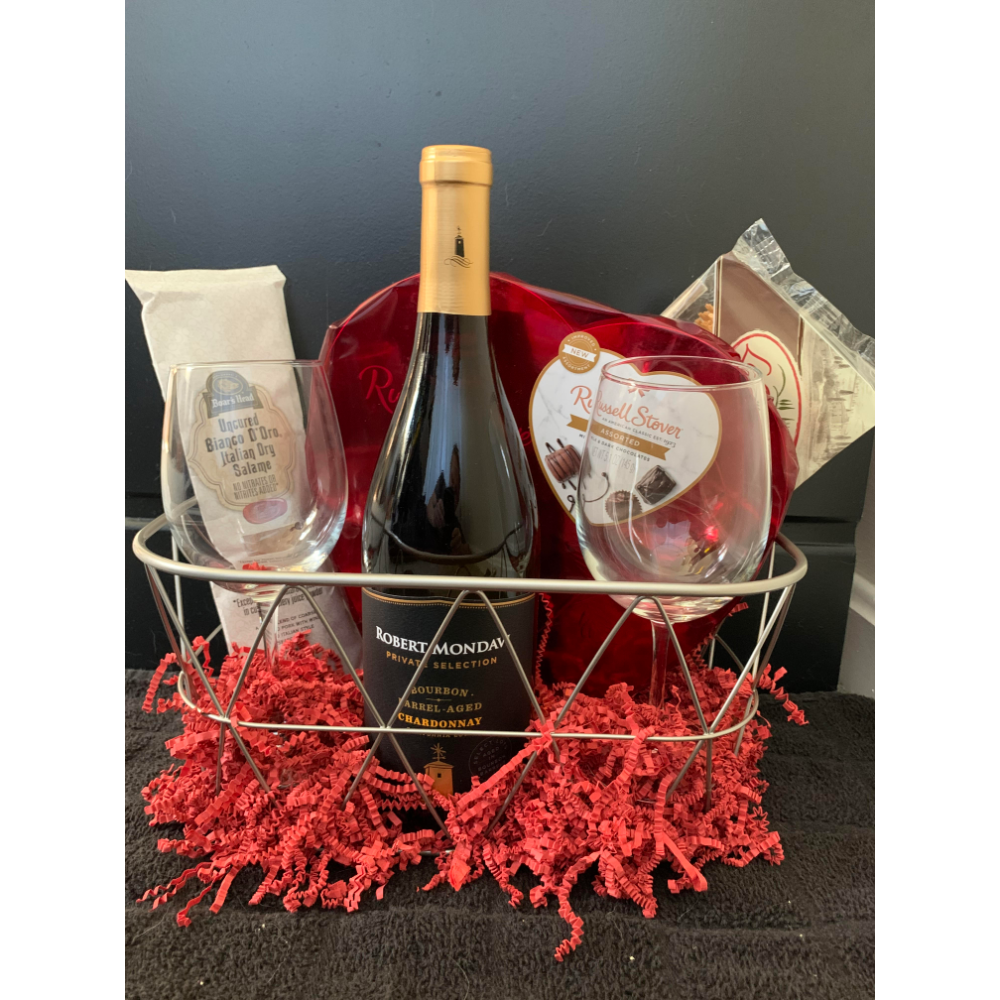 Valentine Wine Basket