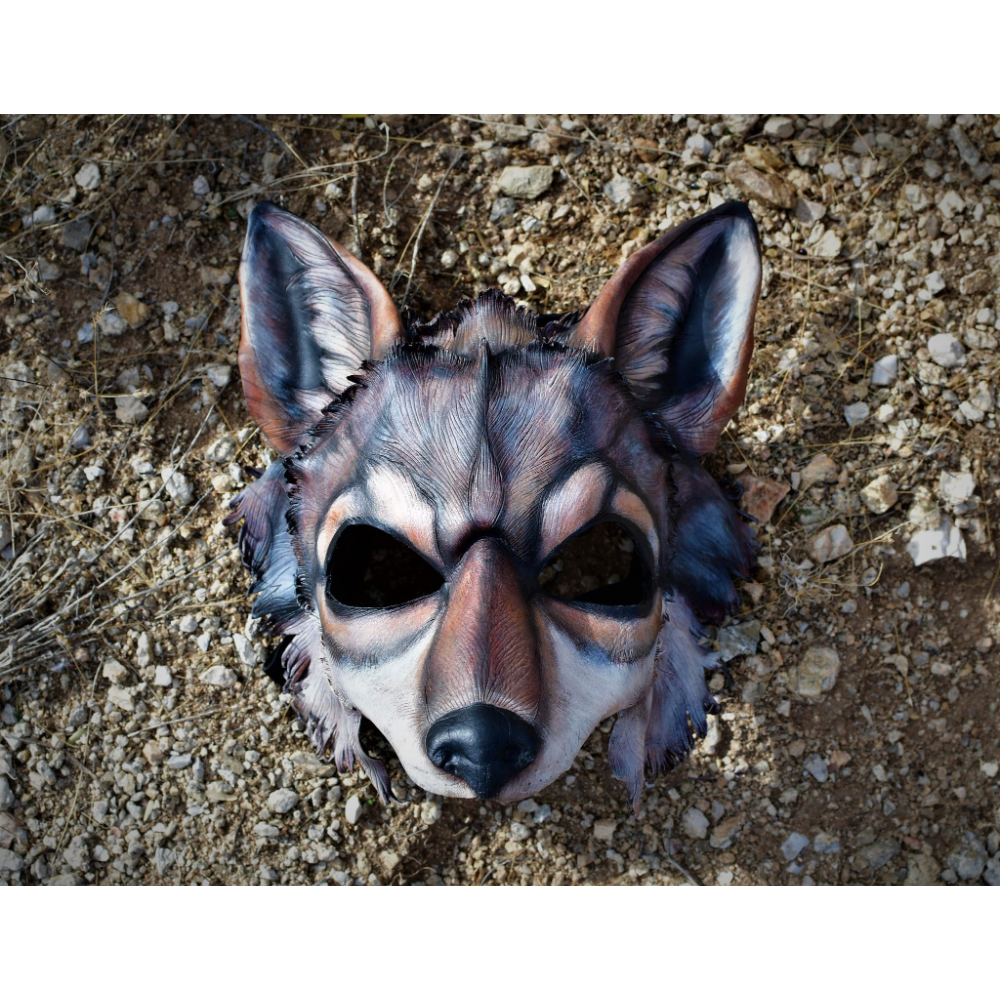 Handmade Leather Mask inspired by the spirit of Ambassador Wolf Boltz