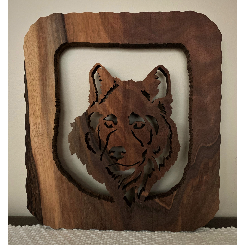 Lone Wolf Wood Carving