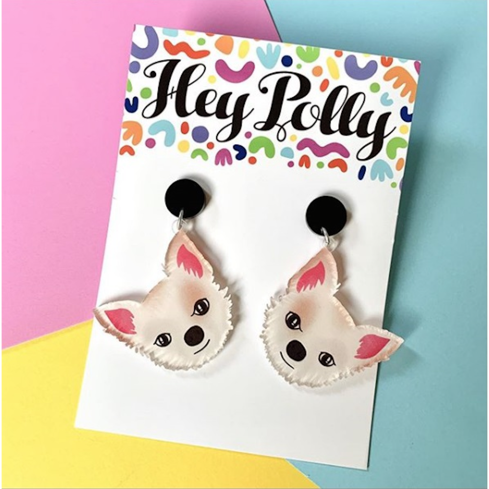 Hey Polly Winston the Chihuahua Earrings