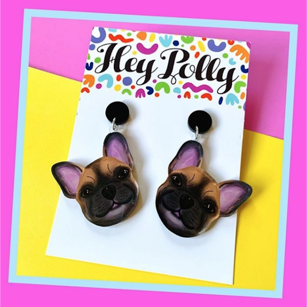 Hey Polly Camilla The Frenchie Earrings