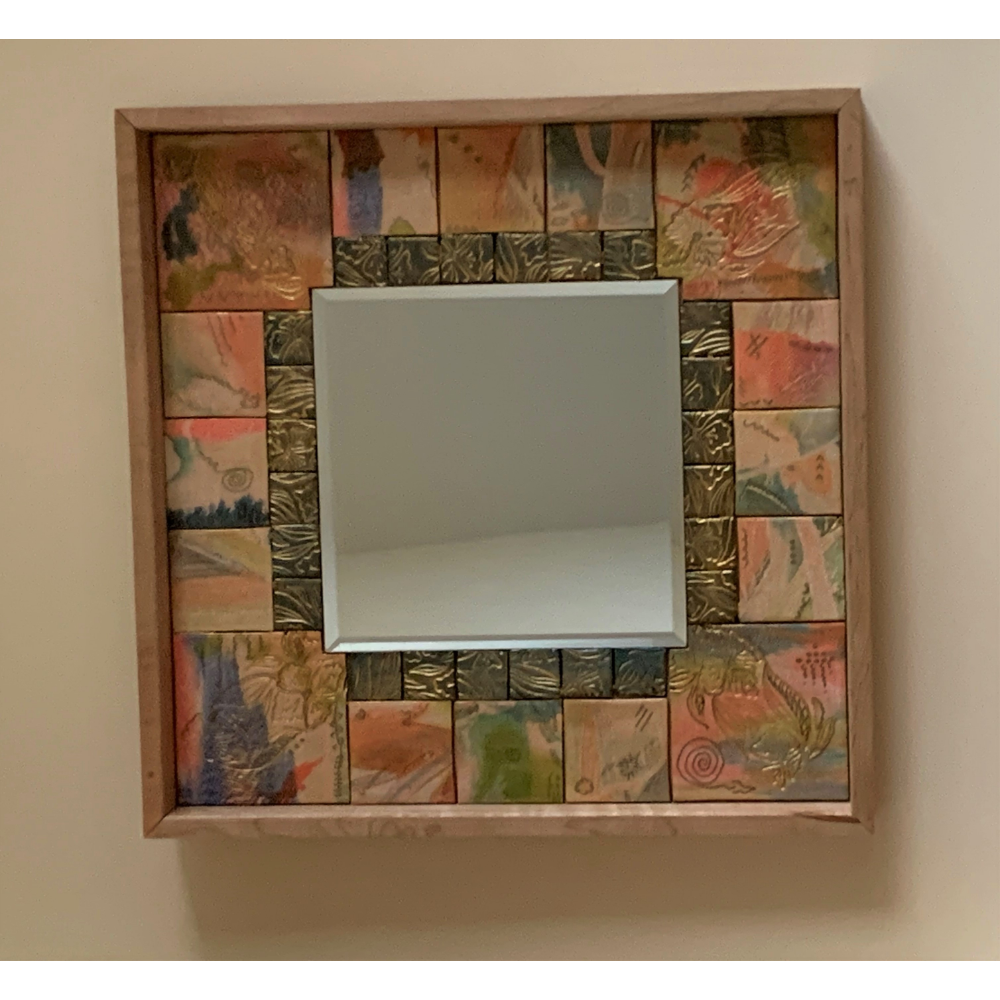 Hand Crafted Multi Medium Mirror by Linda Case