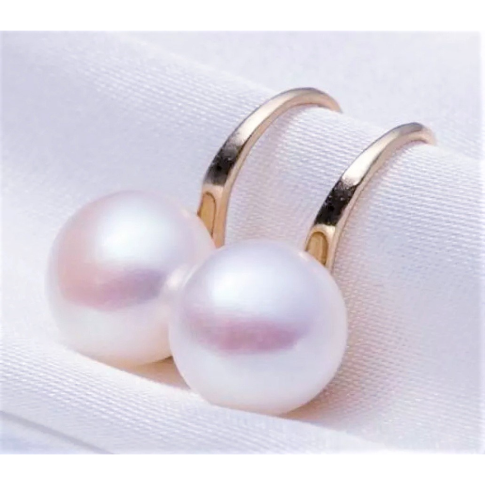 Freshwater Pearl Drop Earrings, Gold