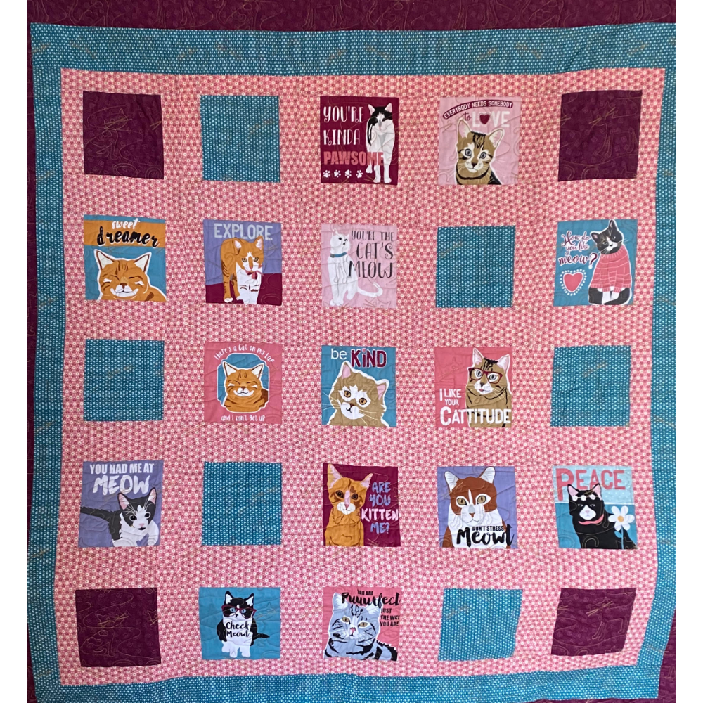 Handmade Cat Quilt or Wall Hanging