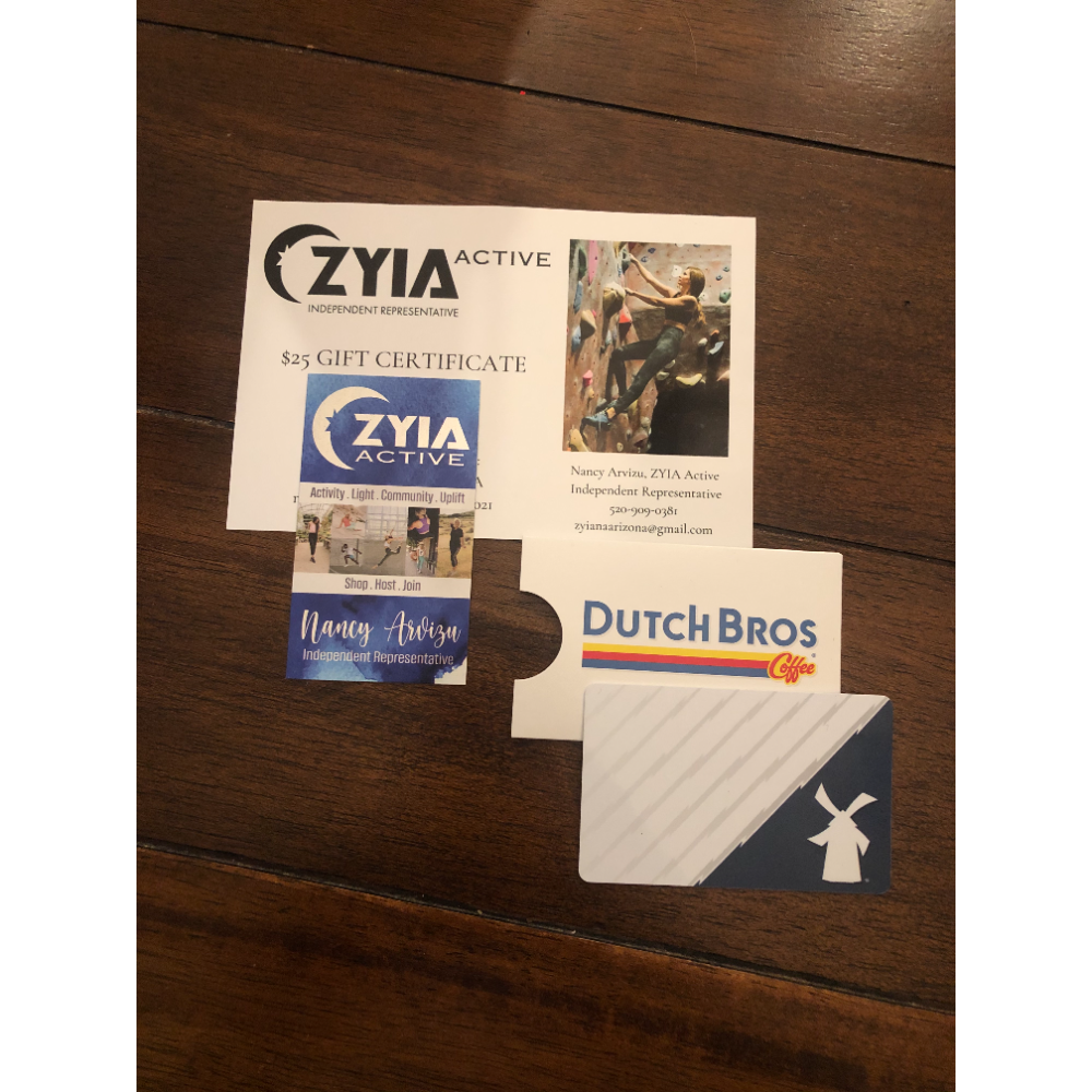Zyia Activewear and Dutch Bros Gift Cards
