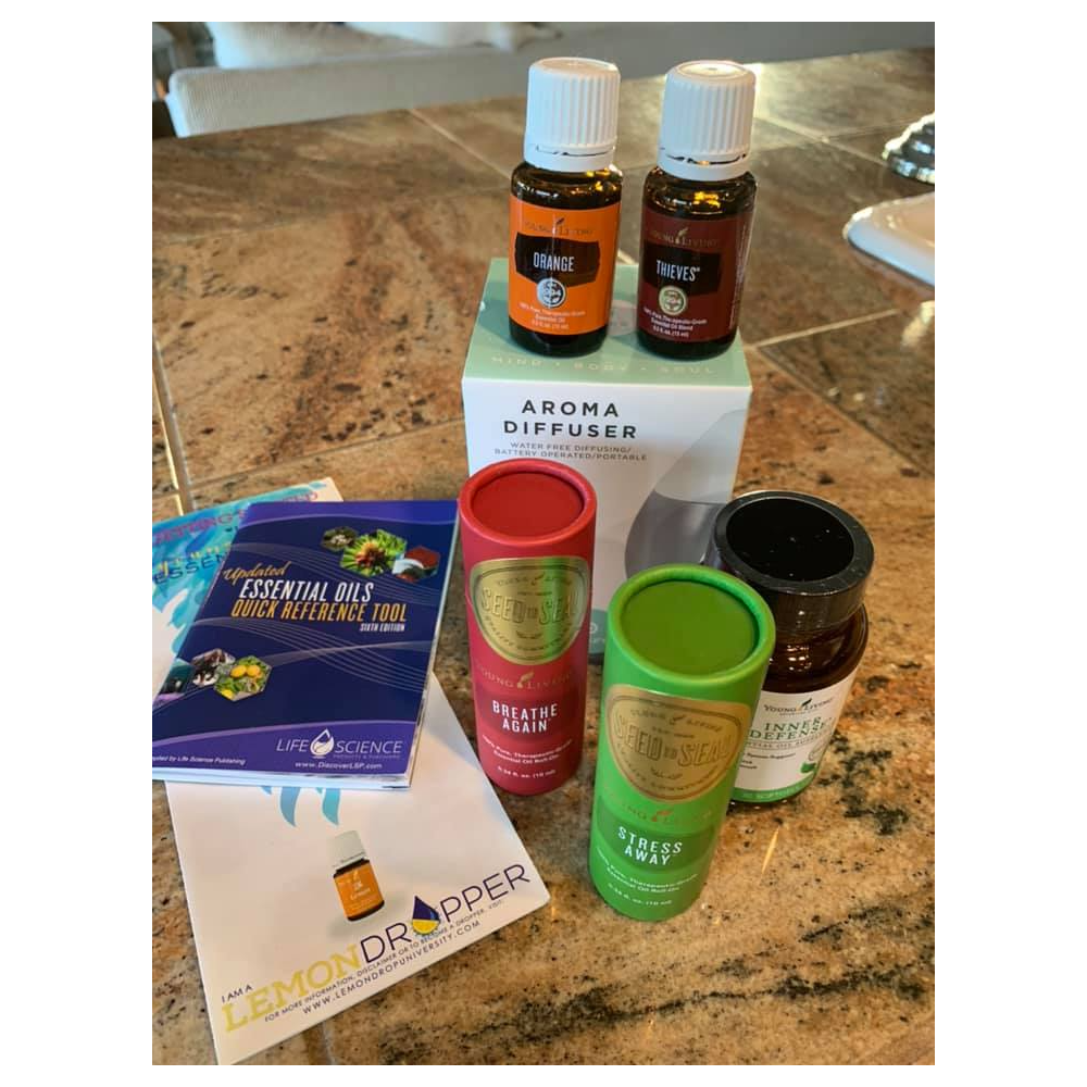 Young Living Basket-Diffuser + Oils