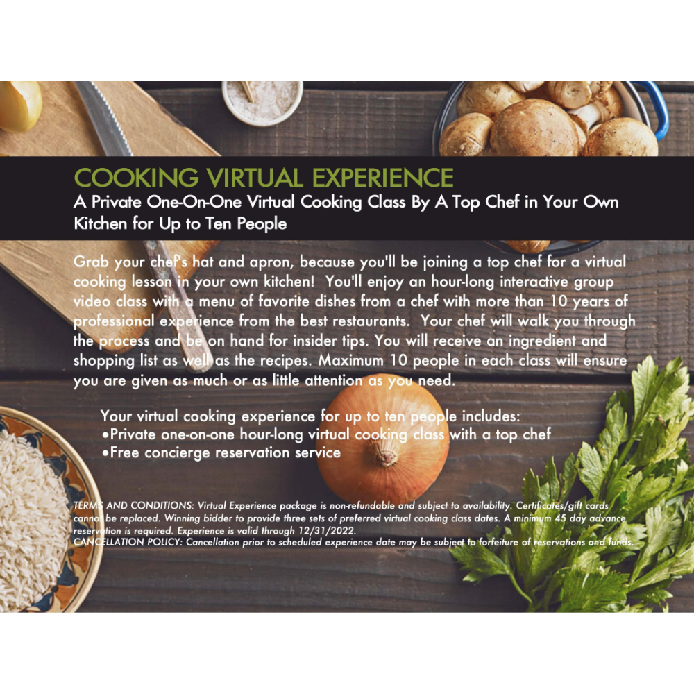 Virtual Cooking Experience