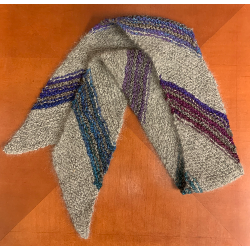 Grizzer Diagonal Knitted Scarf