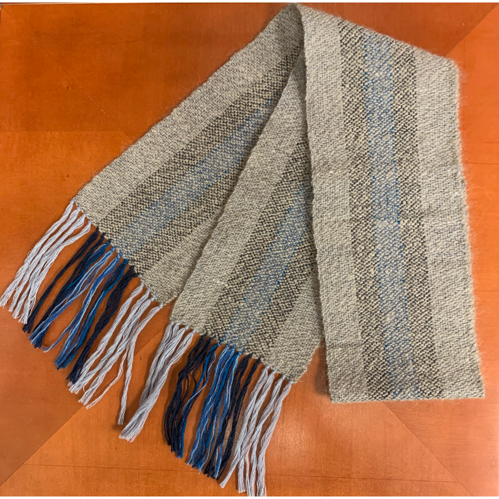 Grizzer Woven and Striped Scarf