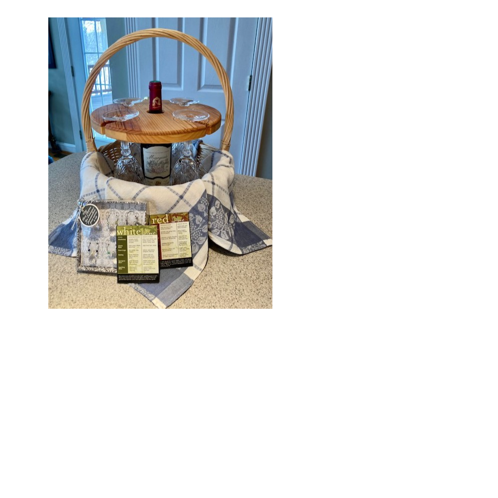 Wine gift basket and wine holder