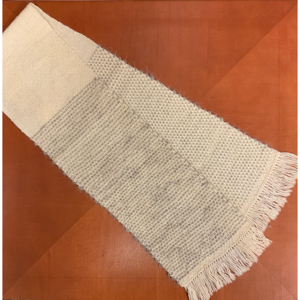 Grizzer Trimmed Handwoven Scarf