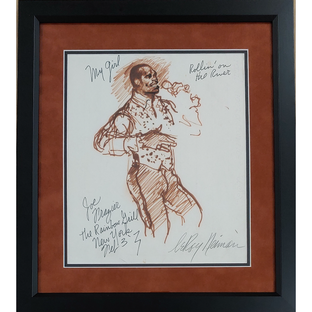 Original LeRoy Neiman Autographed Painting of Smokin' Joe Frazier