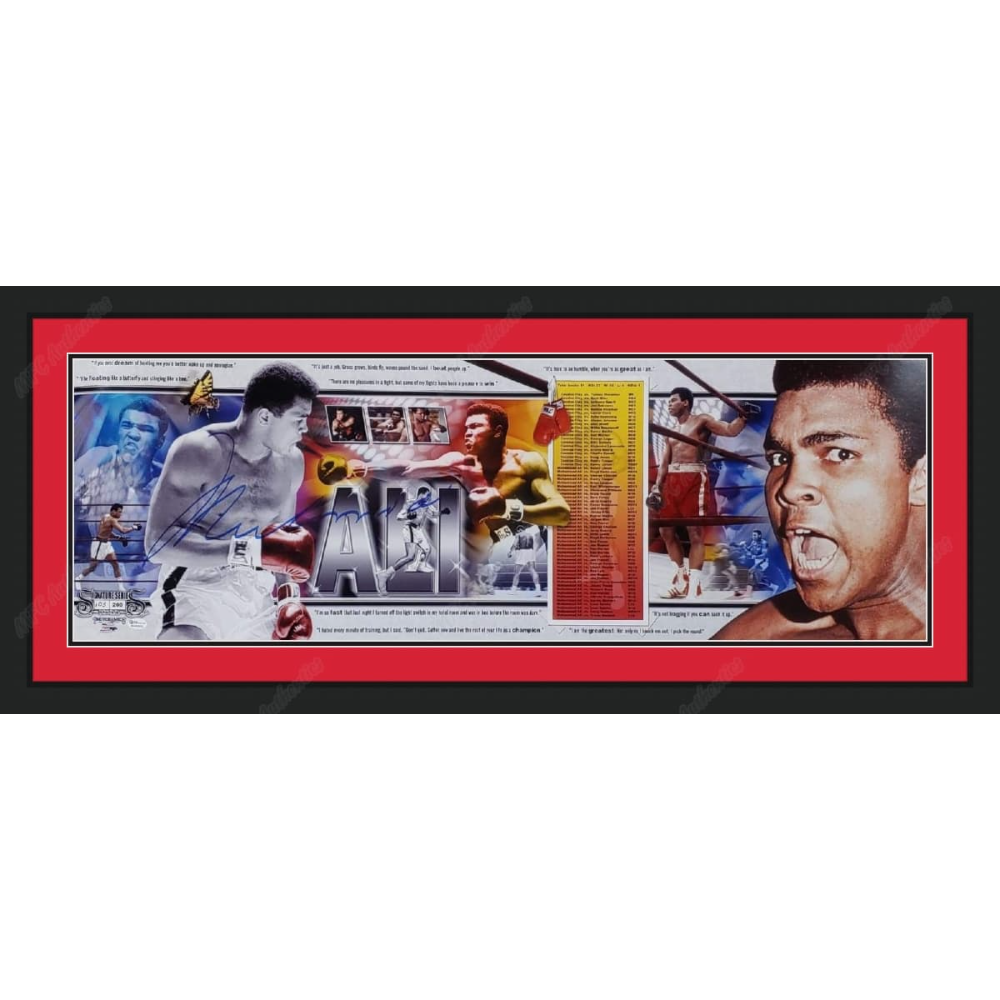 Muhammad Ali Autographed Panoramic Photo