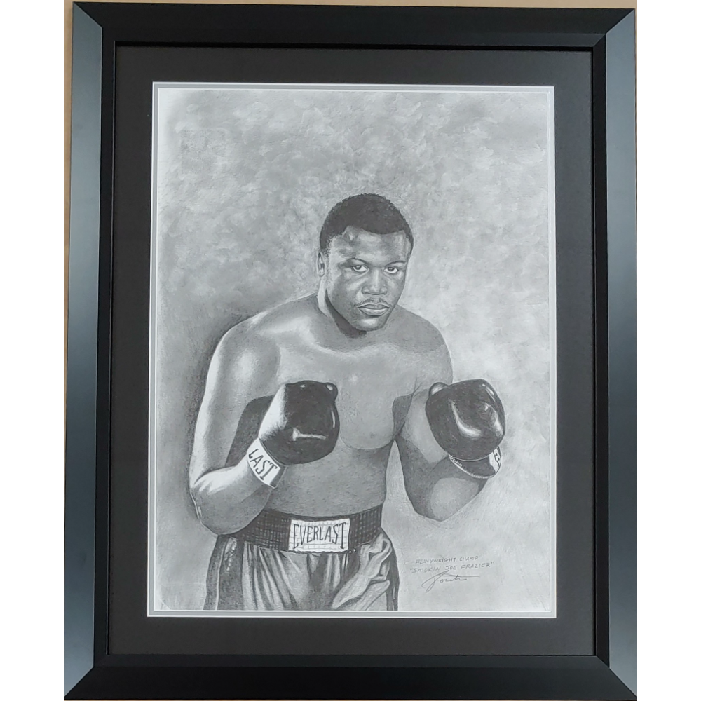 Joe Frazier Original Pencil Drawn Artwork by Clarence Pointer