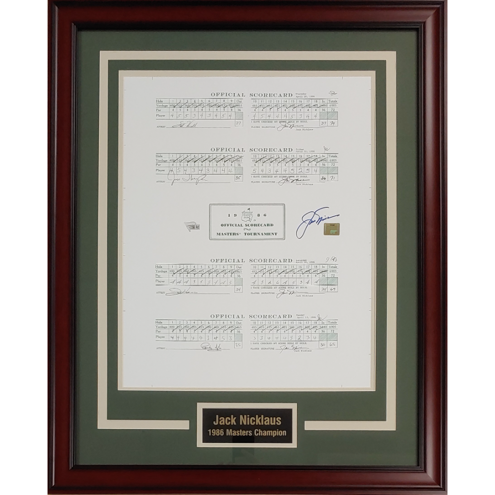 Jack Nicklaus 1986 Masters Scorecards