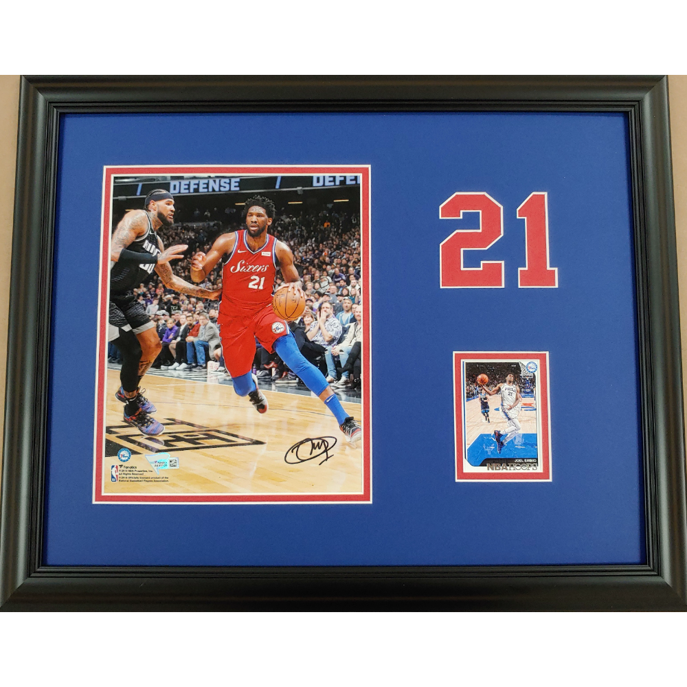 """Joel Embiid """"The Process"""" Autographed 8x10 Photo"""