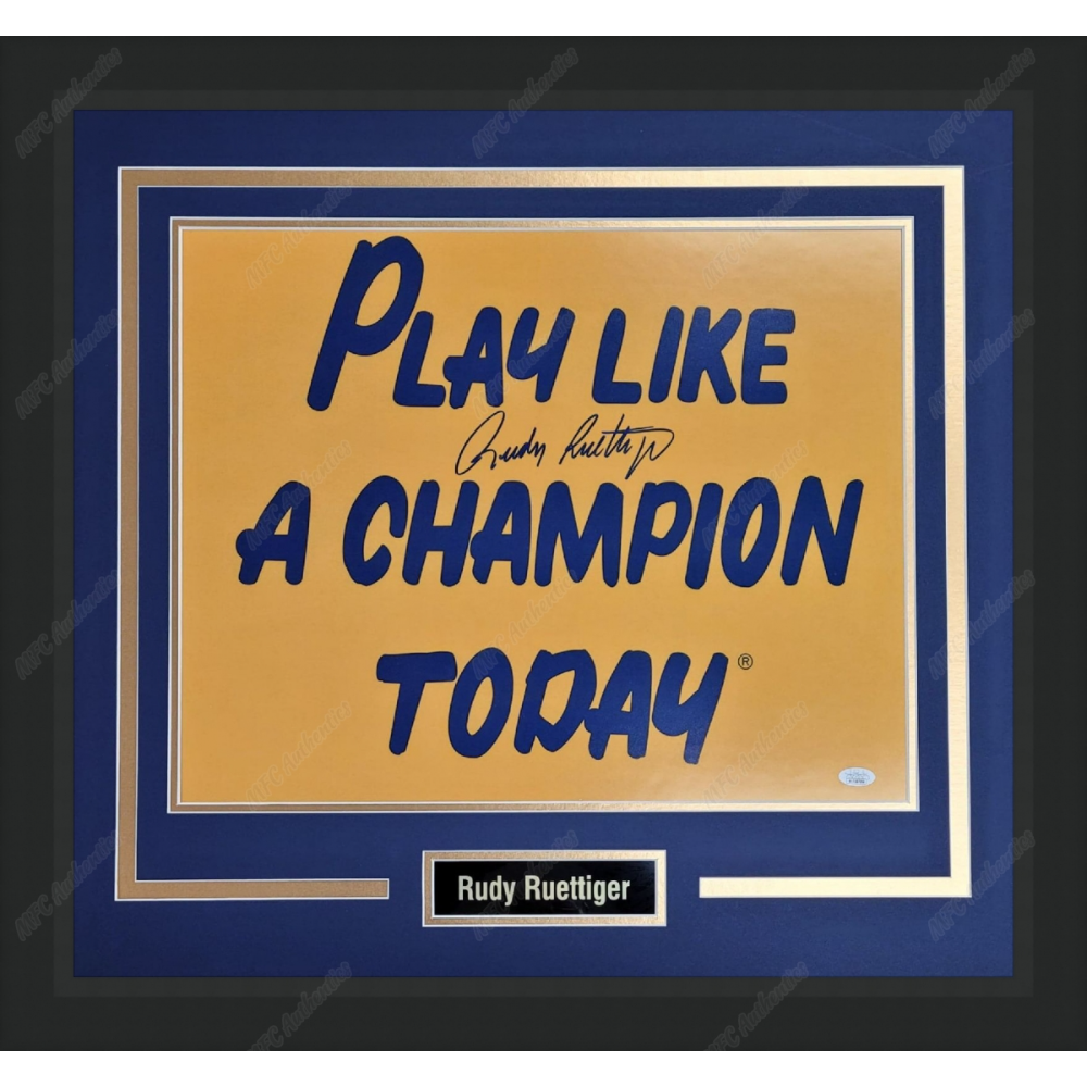 """Rudy Ruettiger Autographed """"Play Like a Champion"""""""
