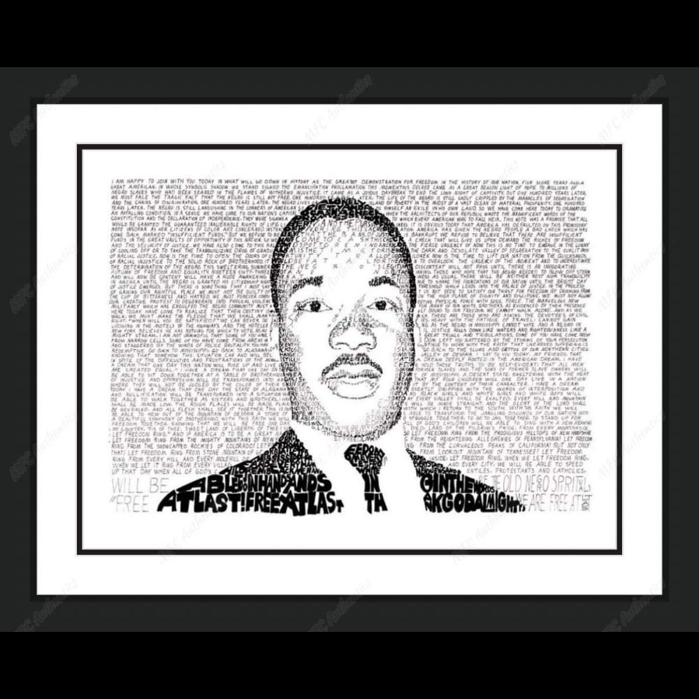 Martin Luther King, Jr WordArt