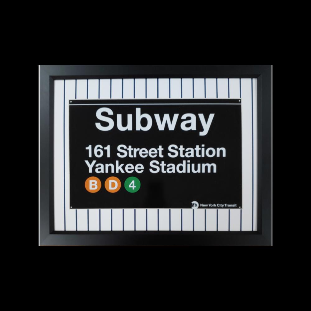 NY Yankees Metal Subway Sign