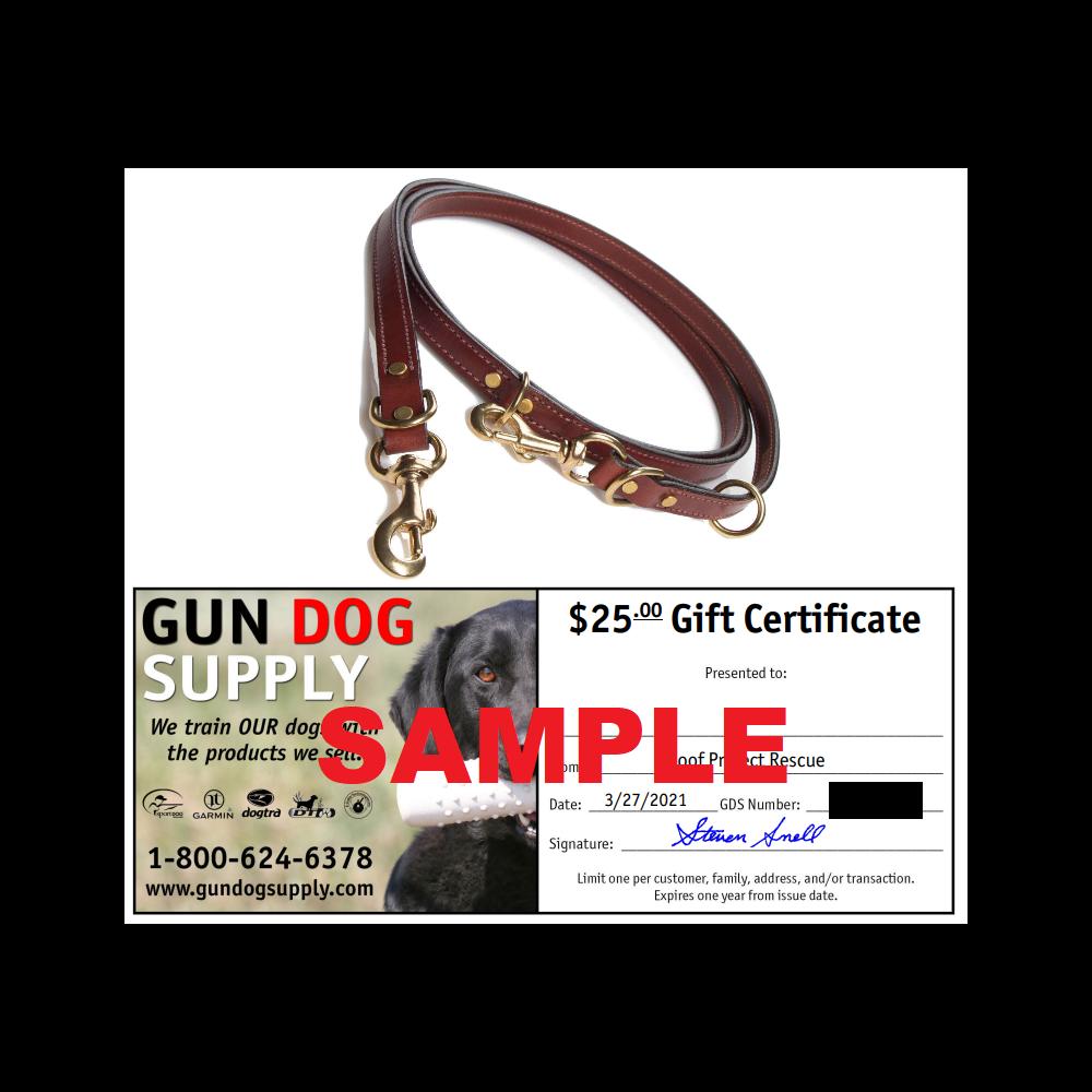 Mendota Jaeger Lead/ $25 Gun Dog Supply Certificate