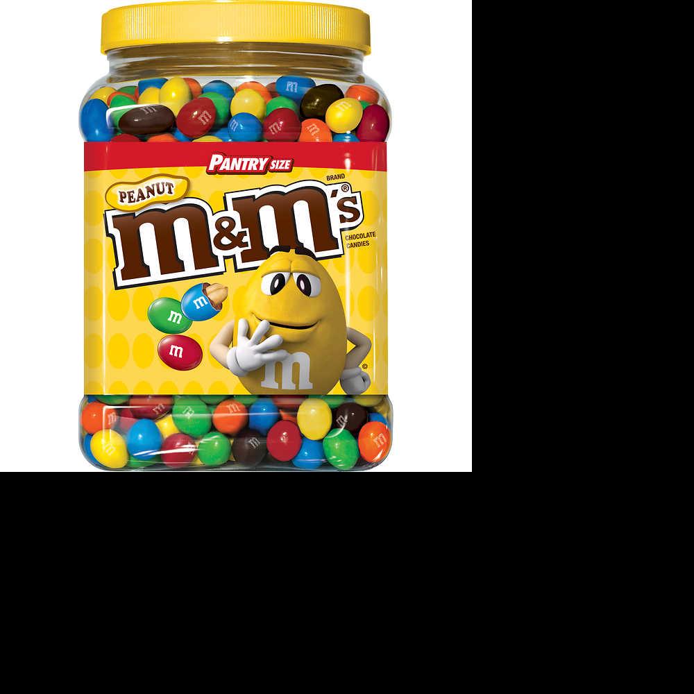 5 lb container of Peanut M&Ms