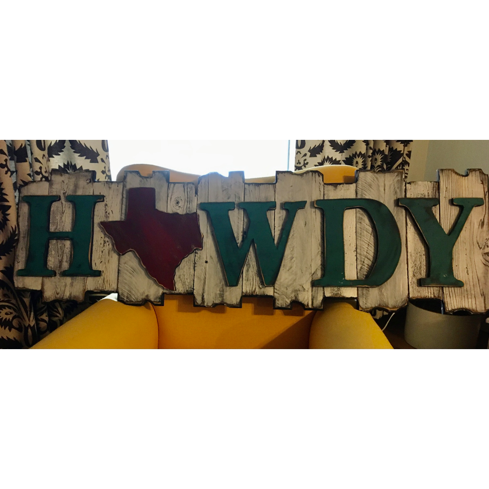 """""""Howdy"""" Sign"""