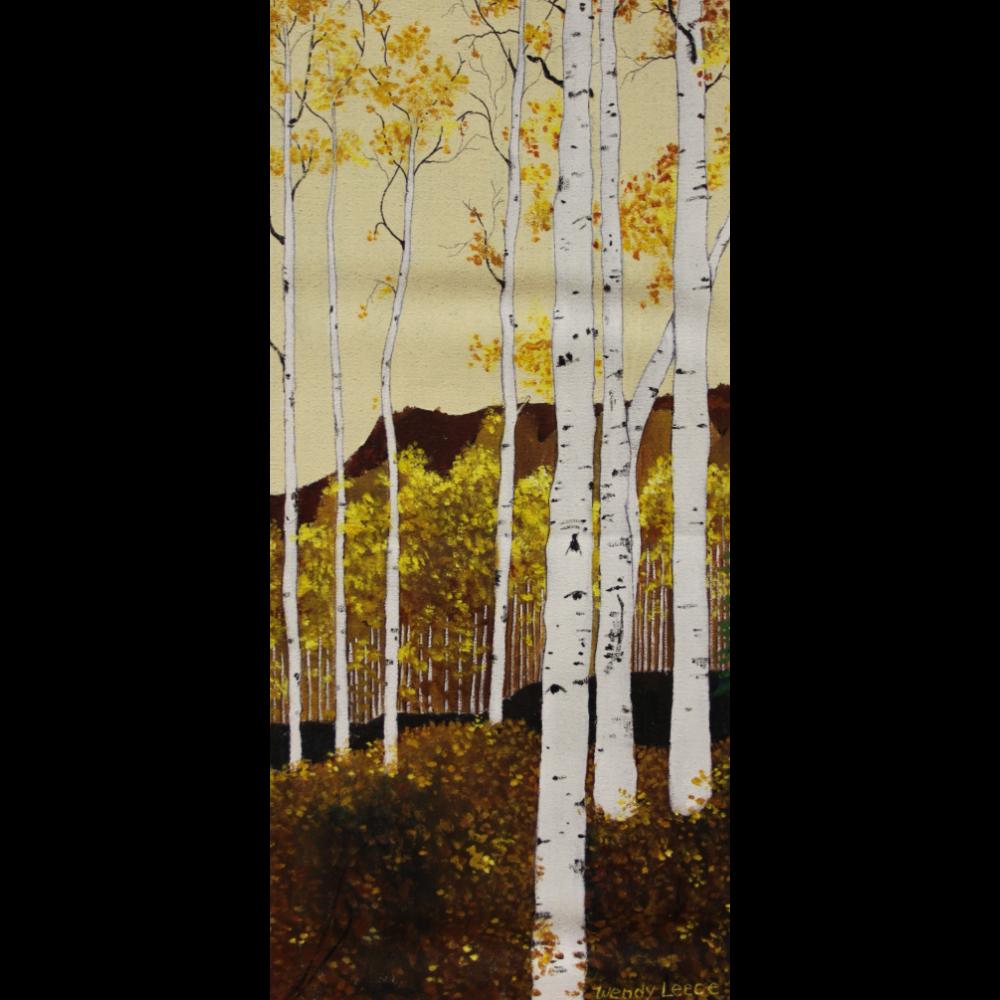 My Aspen Trees by Wendy Leece