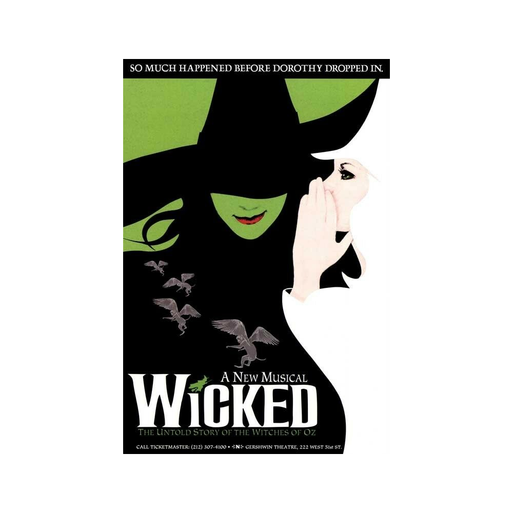 Tickets for 2 for Wicked at the Citizens Bank Boston Opera House