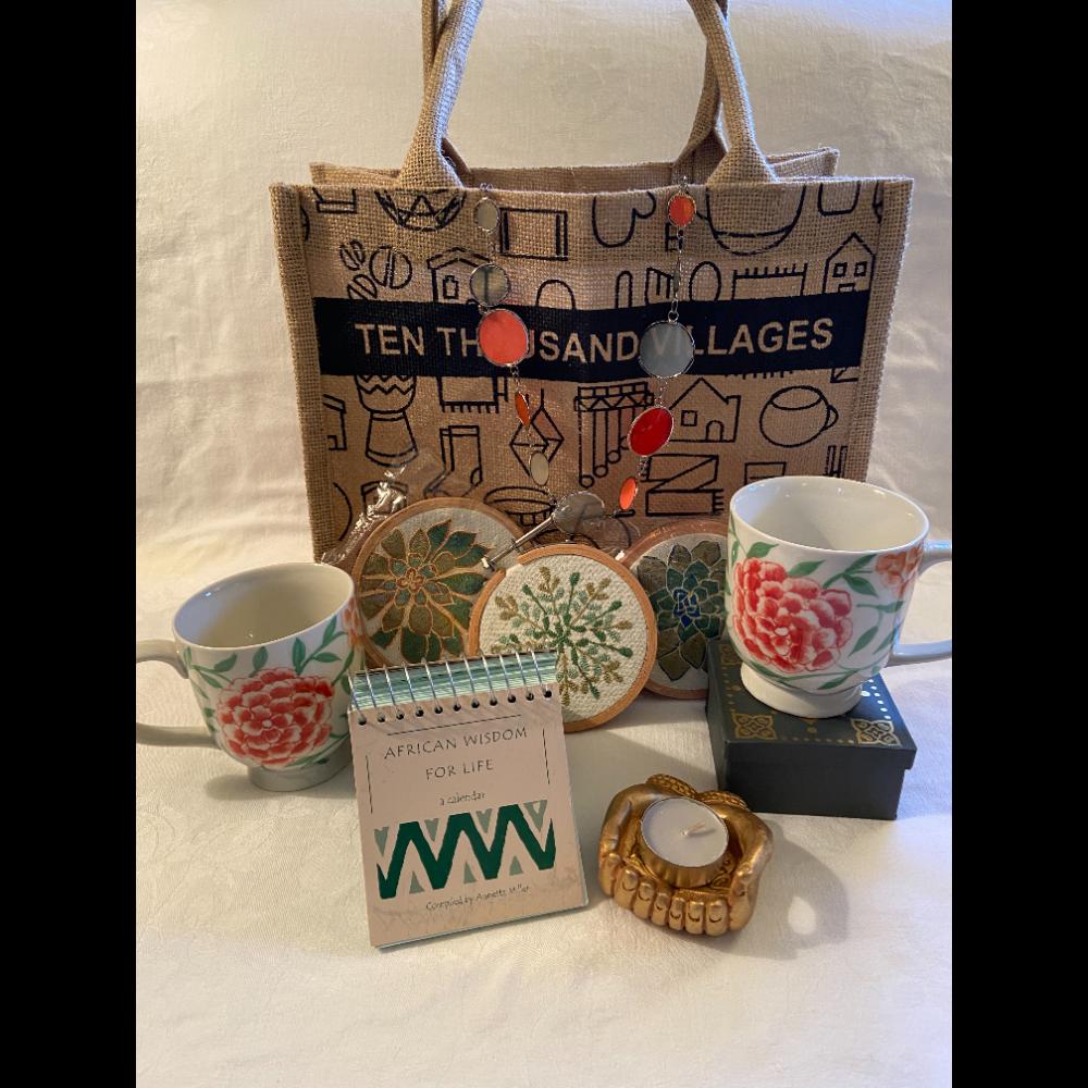 Ten Thousand Villages Gift basket