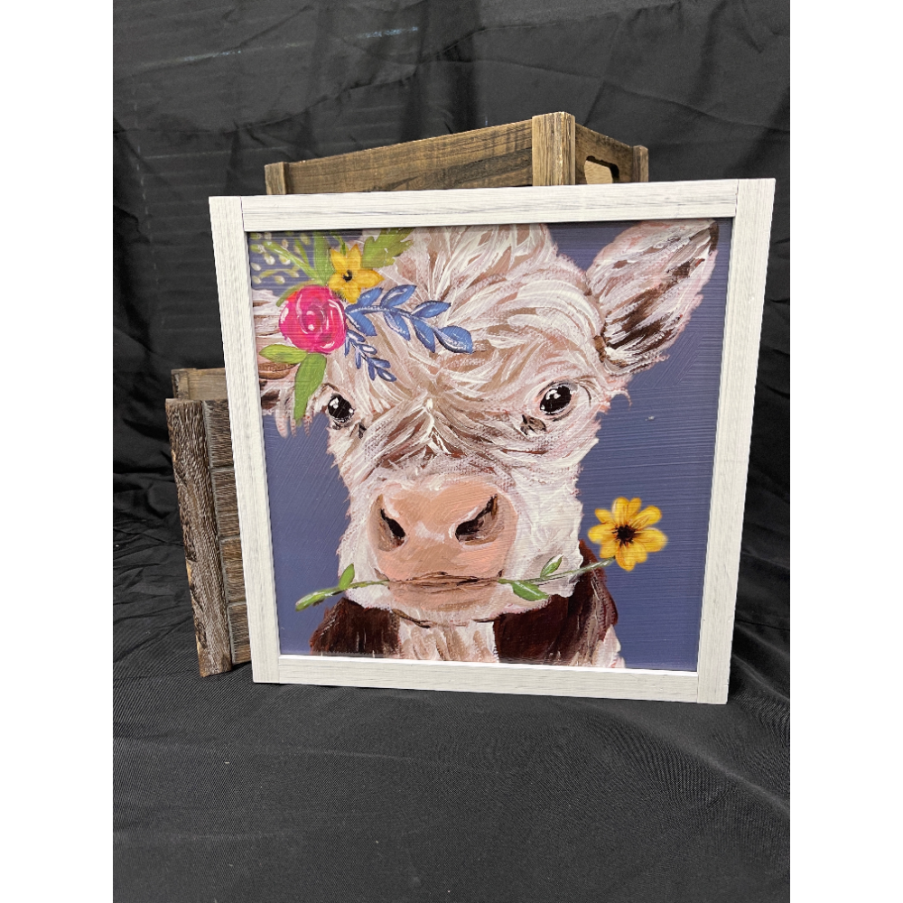 Farmhouse Painted Cow Picture