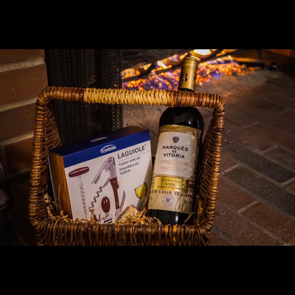 Marques de Vitoria Rioja Reserva 2014 and a 4 Piece Wine Tool Kit