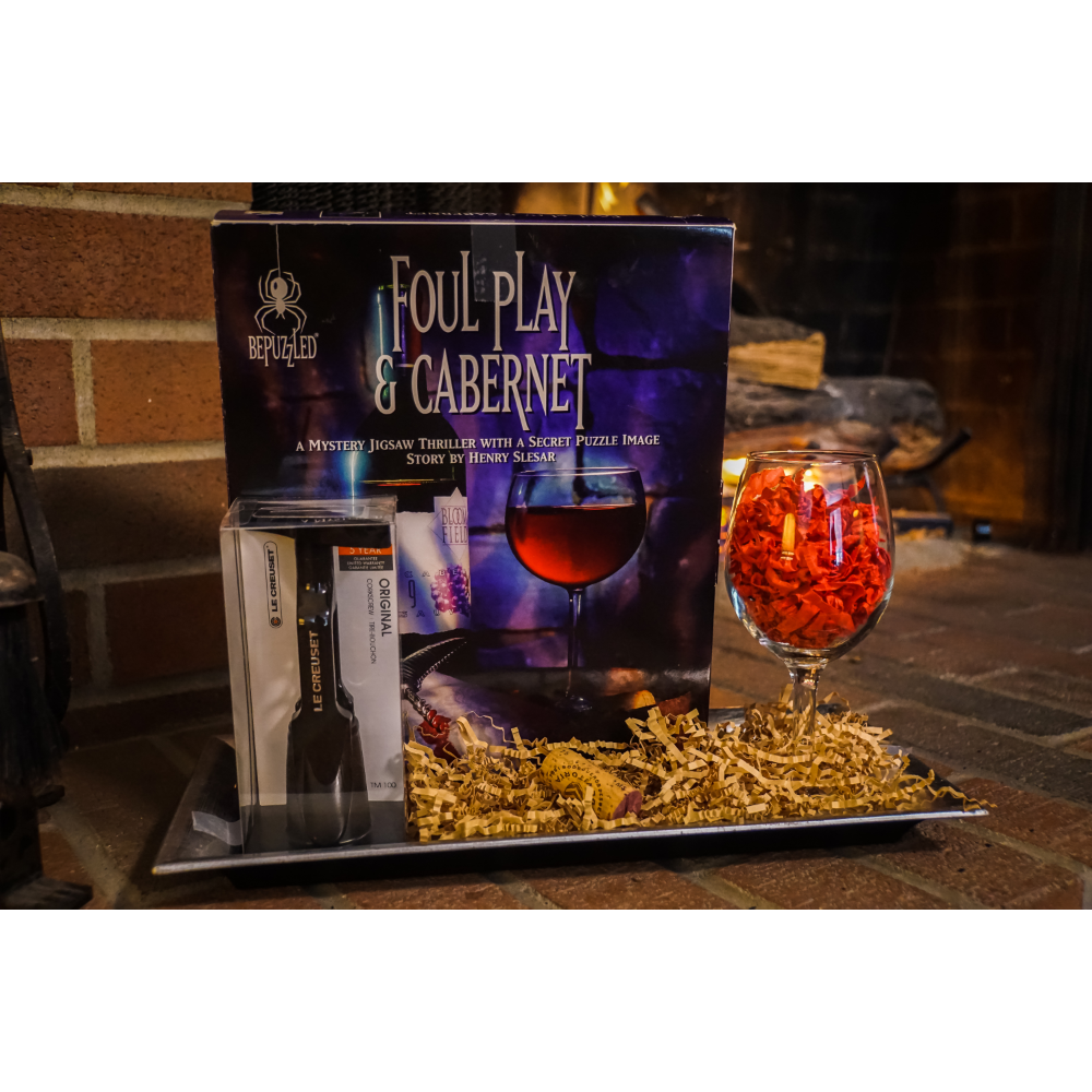 Foul Play & Cabernet - A Mystery Jigsaw Puzzle and Le Creuset Original Corkscrew