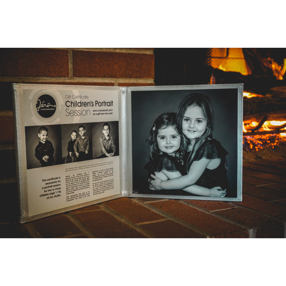 Child/siblings portrait session with photographer, Jerome Scullino